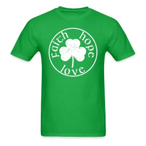 Irish Shamrock faith hope love shirt - Men's T-Shirt