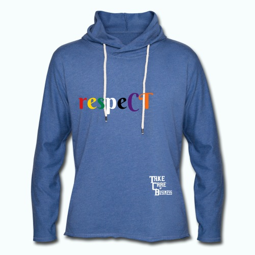Unisex TCB respeCT Hoody Heather Blue - Unisex Lightweight Terry Hoodie