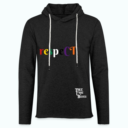 Unisex TCB respeCT Hoody Charcoal gray - Unisex Lightweight Terry Hoodie