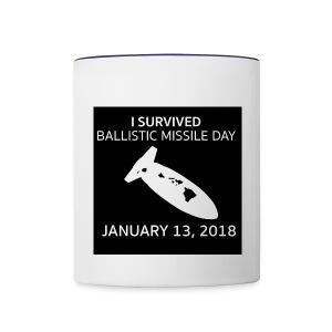 Ballistic Missile Hawaii Mug  - Contrast Coffee Mug