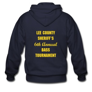 Lee County Sherriff's Bass Tournament Hoodie - Men's Zip Hoodie