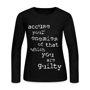 Accuse Your Enemies [2] Women's Long Sleeve Jersey T-shirt - Women's Long Sleeve Jersey T-Shirt