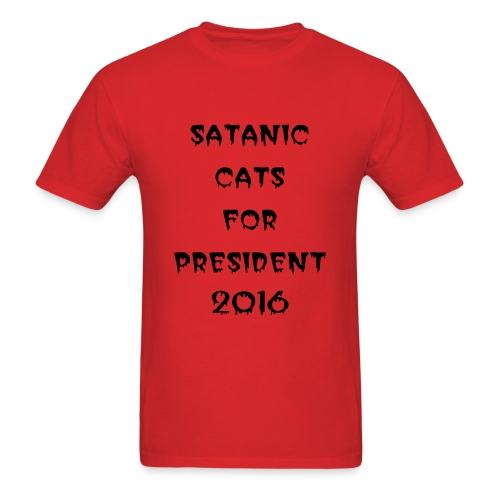 satanic cats for pres tee - Men's T-Shirt