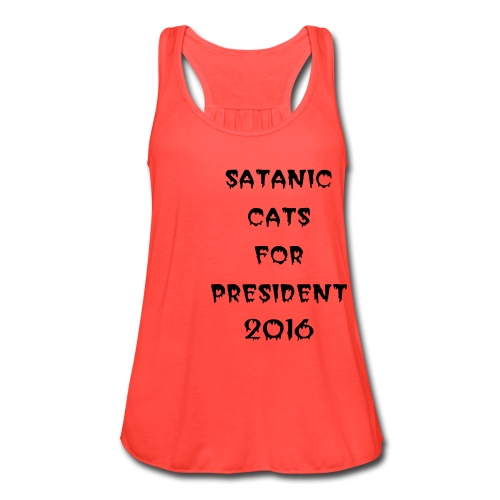satanic cats for pres girls flowy tank top - Women's Flowy Tank Top by Bella