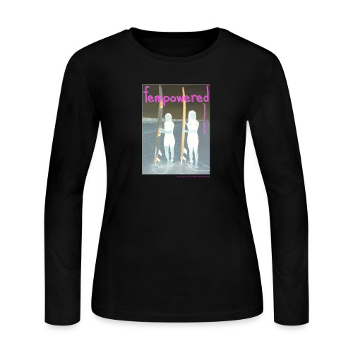 fempowered™ 1GlobalGirlZ™ ©Cali Lili all rights reserved  - Women's Long Sleeve Jersey T-Shirt