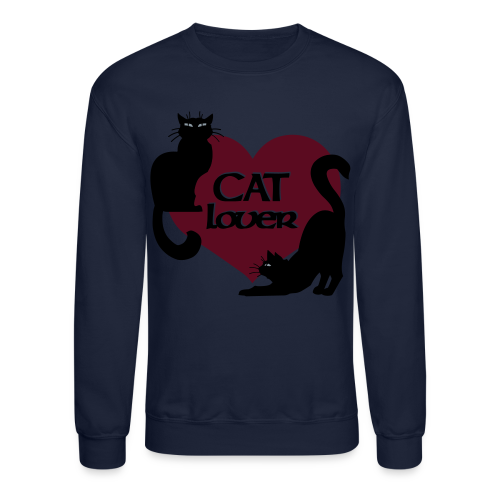 Cat Lover Sweatshirt Cat Art Shirts - Crewneck Sweatshirt