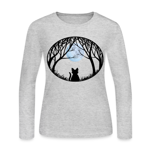 Fat Cat T-shirt Women's Cat Lover Shirts & Gifts  - Women's Long Sleeve Jersey T-Shirt