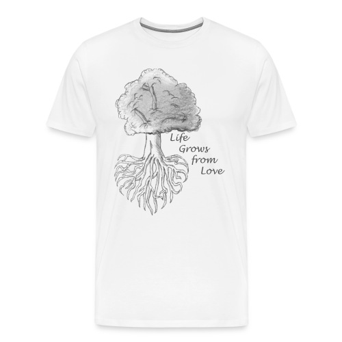 Life Grows from Love - Men's Premium T-Shirt