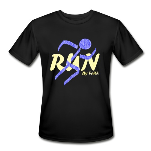Run By Faith - Men's Moisture Wicking Performance T-Shirt