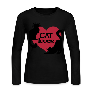 Cat Lover Shirt Women's Cat Lover Shirts & Gifts  - Women's Long Sleeve Jersey T-Shirt