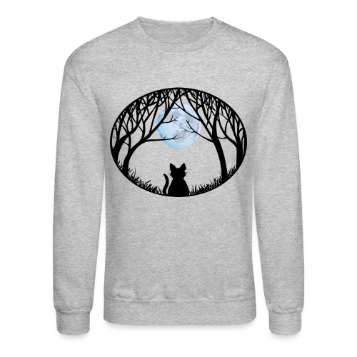 Fat Cat Sweatshirt Cat Art Shirts - Crewneck Sweatshirt