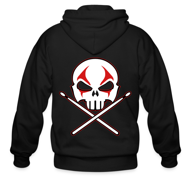 Heavy Metal Hoodie Rock & Roll Drummer Jacket