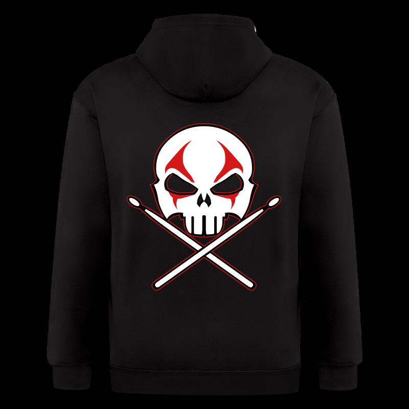 Heavy Metal Hoodie Rock & Roll Drummer Jacket - Men's Zip Hoodie