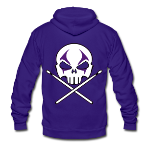 Heavy Metal Hoodie Rock & Roll Drummer Shirts - Unisex Fleece Zip Hoodie by American Apparel