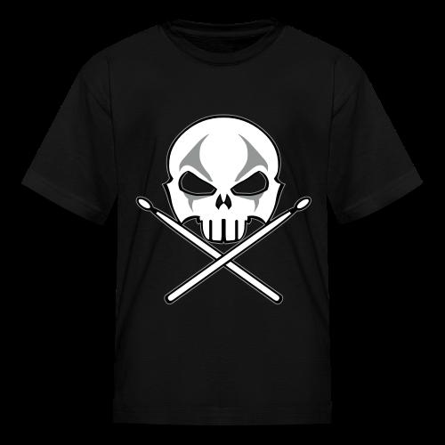 Rock and Roll Drummer Shirt Organic Kid's Death Metal T-shirt - Kids' T-Shirt