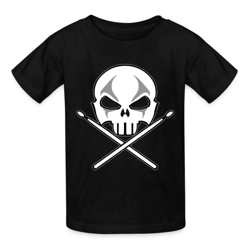 Rock and Roll Drummer Shirt Organic Kid's Death Metal T-shirt - Kids' T-Shirt