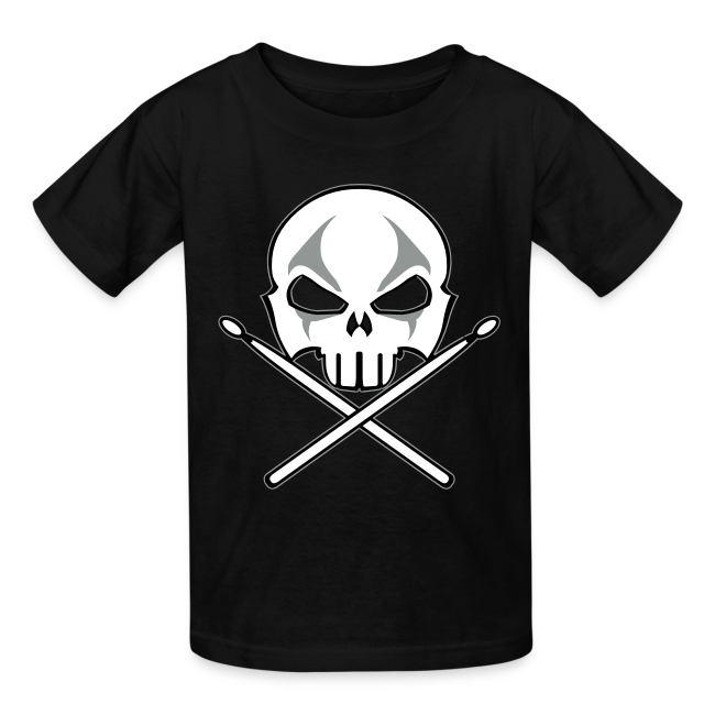 Rock and Roll Drummer Shirt Organic Kid's Death Metal T-shirt