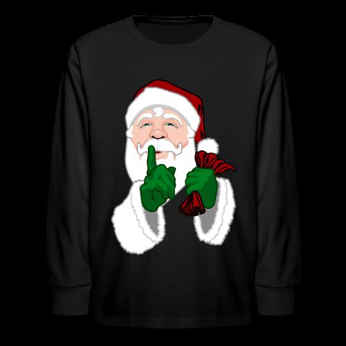 Kids Santa Shirt Festive Kid's Christmas Shirts - Kids' Long Sleeve T-Shirt