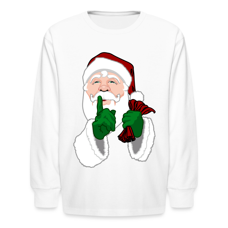 Kids Santa Shirt Festive Kid's Christmas Shirts - Kids' Long Sleeve T-Shirt