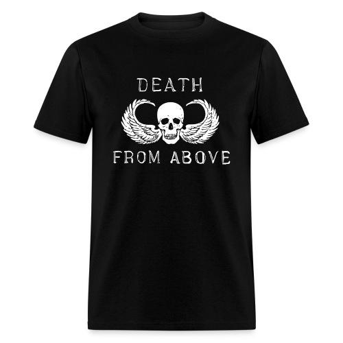 Death from above skull wings biker 1%er airborne  - Men's T-Shirt