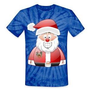 Santa naughty but nice List - Unisex Tie Dye T-Shirt