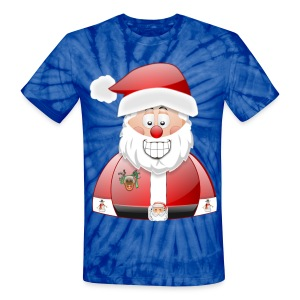 Santa naughty but nice List - Unisex Tie Dye T-Shirt