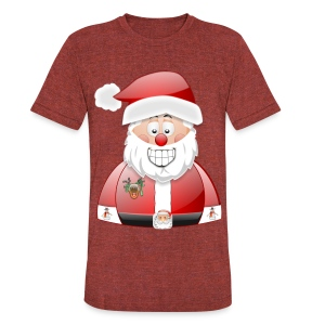 Santa naughty but nice List - Unisex Tri-Blend T-Shirt by American Apparel