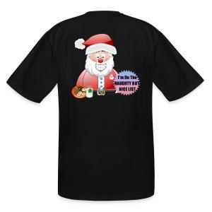 Santa naughty but nice List - Men's Tall T-Shirt