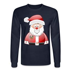 Smily Santa with father christmas badge & Raindeer - Men's Long Sleeve T-Shirt