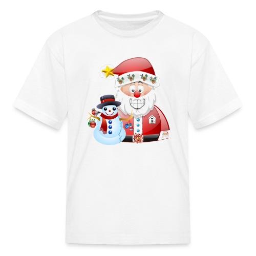 Christmas scene Santa father christmas snowman - Kids' T-Shirt