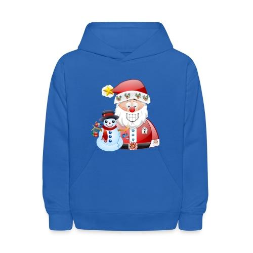 Christmas scene Santa father christmas snowman - Kids' Hoodie