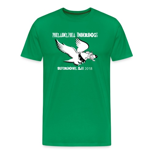 Philadelphia Underdog T Kelly Green - Men's Premium T-Shirt