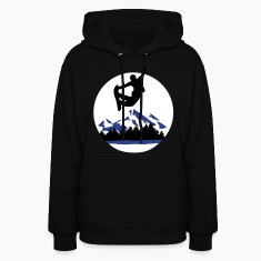 Snowboarder and Mountains, Snowboarding Hoodies