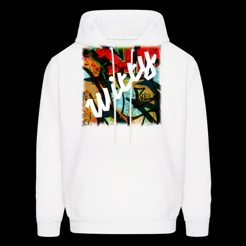 Men's | White Graffiti Hoodie | Fall/Winter Collection - Men's Hoodie