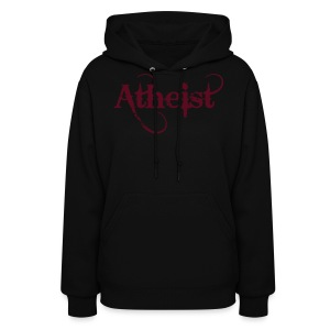 Atheist hooded  ladies sweatshirt - Women's Hoodie