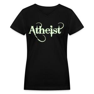 Atheist - Women's V-Neck T-Shirt