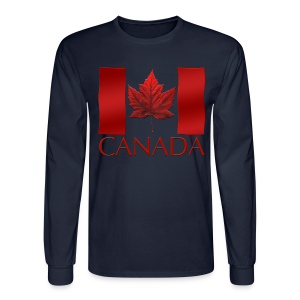 Canada Shirts Men's Canadian Flag Souvenir Shirts - Men's Long Sleeve T-Shirt
