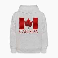 Canada Souvenir Kid's Hoodie Canadian Flag Childre