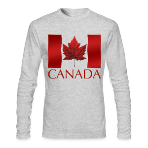 Canada Shirts Men's Canadian Flag Souvenir Shirts - Men's Long Sleeve T-Shirt by Next Level