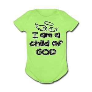 Child of God (B)   - Short Sleeve Baby Bodysuit