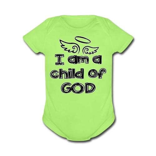 Child of God (B)   - Organic Short Sleeve Baby Bodysuit
