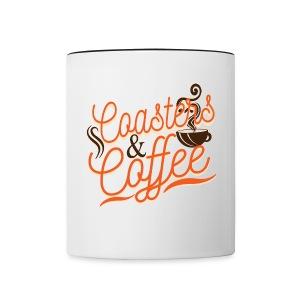 Coffee with My Coasters - Contrast Coffee Mug