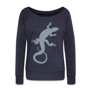 Lizard Art Shirt Women's Reptile Long Sleeve Shirts - Women's Wideneck Sweatshirt