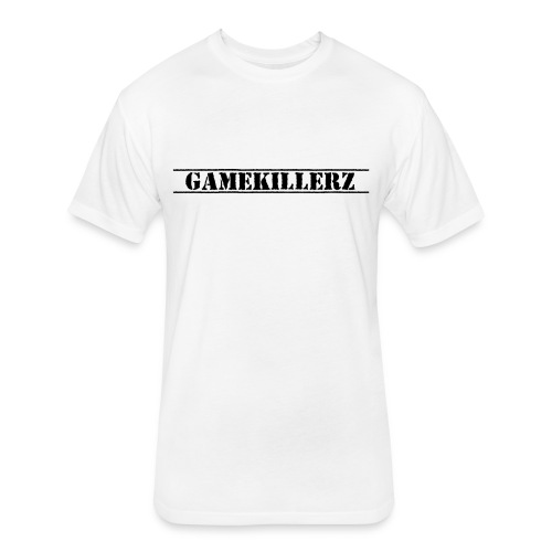 Men's White GAMEKILLERZ Fitted Cotton/Poly Blend T-Shirt w/Black Logo - Fitted Cotton/Poly T-Shirt by Next Level