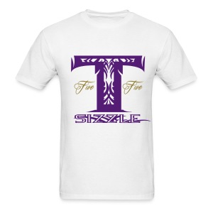 MENS T SIZZLE LOGO T SHIRT WHITE/PURPLE  - Men's T-Shirt