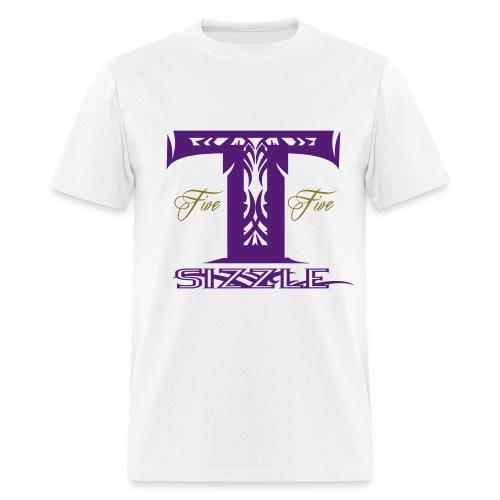 MENS T SIZZLE LOGO T SHIRT WHITE/PURPLE  - Men's T-Shirt
