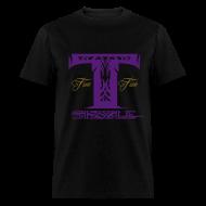 T-Shirts ~ Men's T-Shirt ~ MENS T SIZZLE LOGO T SHIRT BLK/PURPLE