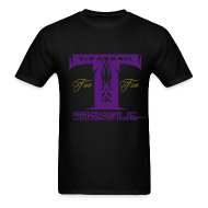T-Shirts ~ Men's T-Shirt ~ MENS T SIZZLE LOGO T SHIRT BLK/PURPLE