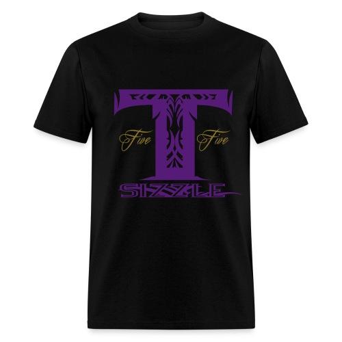 MENS T SIZZLE LOGO T SHIRT BLK/PURPLE - Men's T-Shirt