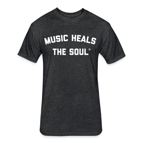 Music Heals The Soul - Tee - Fitted Cotton/Poly T-Shirt by Next Level